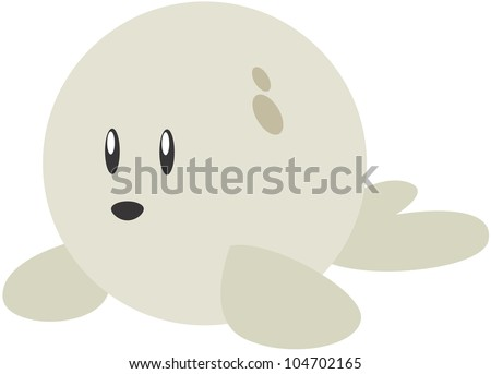 Cute Rounded Sea Lion Cartoon