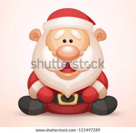 Cute Santa Claus - stock vector