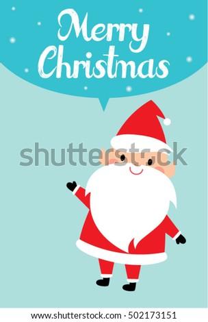 Cute santa claus merry christmas greeting stock photo photo vector cute santa claus merry christmas greeting card vector m4hsunfo