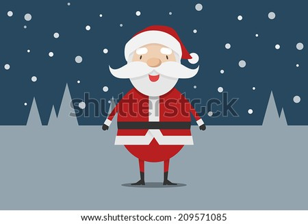 cute santa claus vector - stock vector