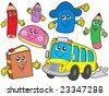 Cute school illustrations collection - vector illustration. - stock vector