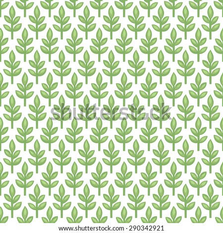 Cute seamless spring summer tiny herb vector pattern. Fresh spring sprout background. Pattern for continuous replicate. Green plant texture on white background. - stock vector
