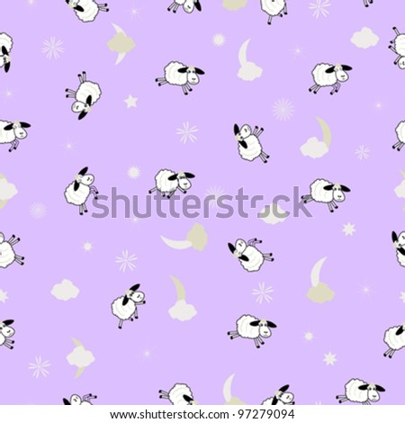 cute sheep background vector illustration - stock vector