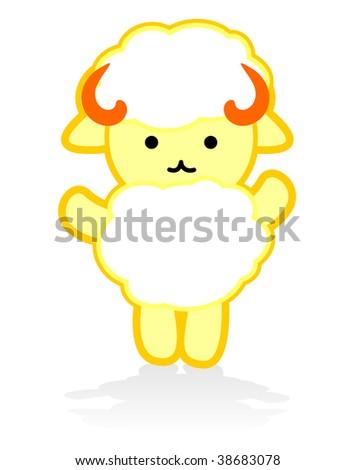 Cute Sheep Vector - stock vector