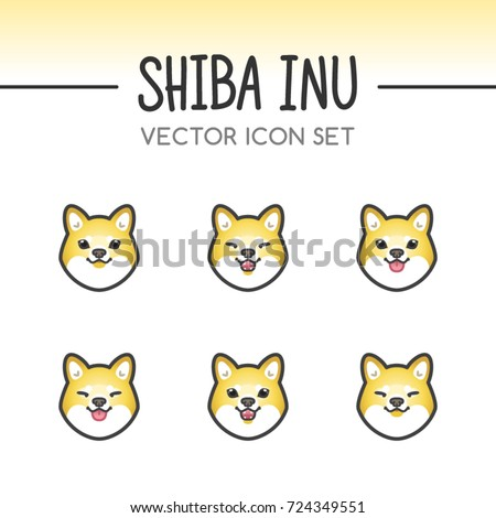 Must see Shiba Inu Anime Adorable Dog - stock-vector-cute-shiba-inu-dog-breed-vector-icon-sticker-set-done-in-kawaii-japanese-anime-style-may-be-used-724349551  Picture_57436  .jpg