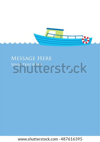 cute ship message card