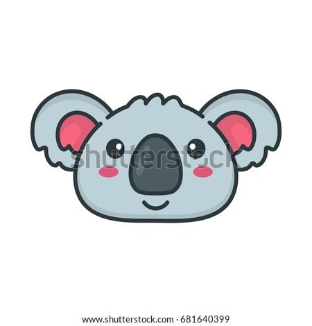koala head stock images royalty free images vectors shutterstock. Black Bedroom Furniture Sets. Home Design Ideas