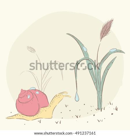 Huisjesslakken Stockillustraties Afbeeldingen En Vectoren