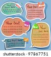 Cute Speech bubbles templates set - stock vector