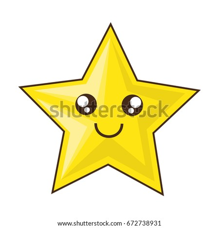 Cute star cartoon stock vector 672738931 shutterstock for Images of stars for kids