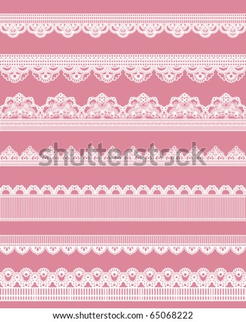 cute straight lace - stock vector