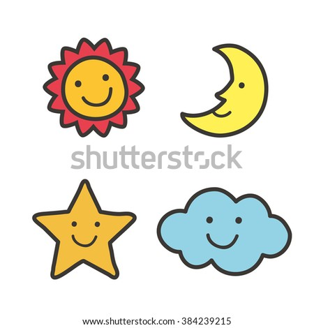 Sun Moon Stars Stock Photos Images Amp Pictures Shutterstock