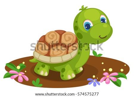 cute tortoise cartoon stock vector 574575277 shutterstock rh shutterstock com Turtle Clip Art Turtle Clip Art