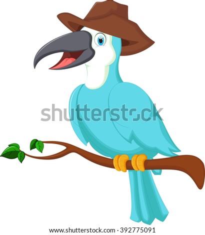 Cute toucan bird cartoon - stock vector