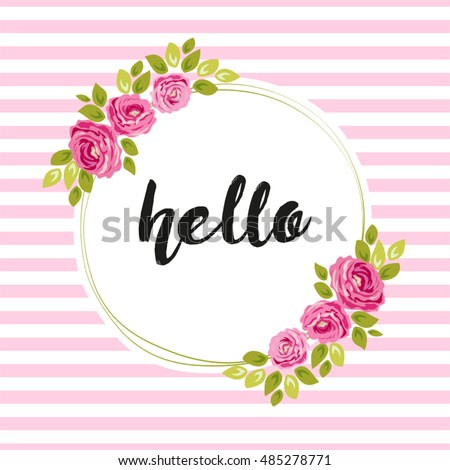 Roses Frame Stock Images Royalty Free Images Vectors