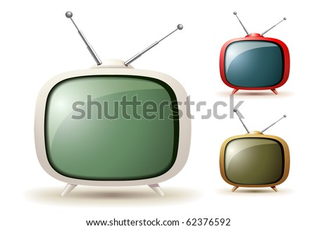 Cute tv vector - stock vector