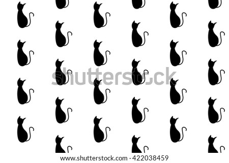 Cute vector cats seamless pattern.