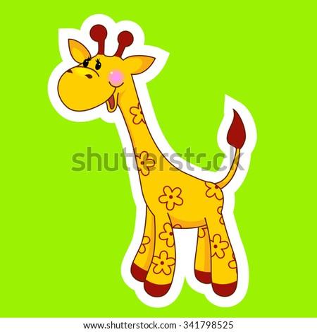 Cute vector giraffe - stock vector