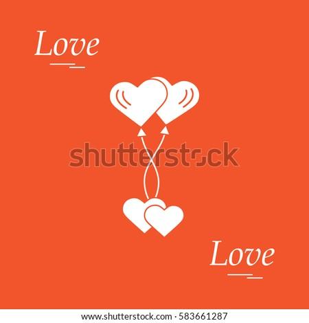 Cute Vector Illustration Love Symbols Heart Stock Vector 583661287