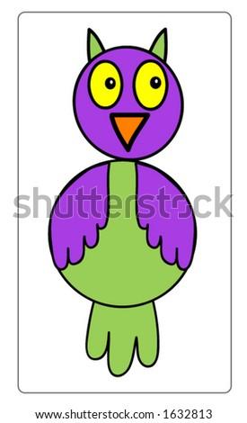Cute vector owl, all scalable - stock vector