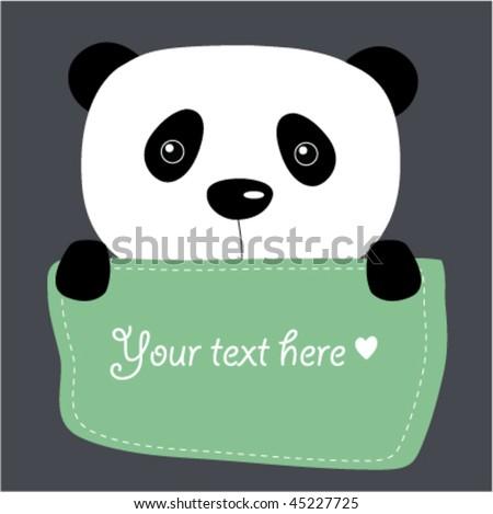 Cute Vector Panda Text Box Stock Vector Royalty Free 45227725