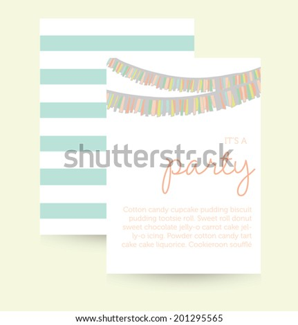 Cute Vector Party Invitation Template Birthday Vector – Template for Party Invitation