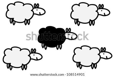Cute vector sheep - stock vector