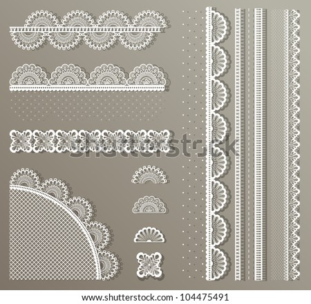 Cute vector Straight lace set - stock vector
