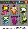 Cute vector toys animals. To see similar, please VISIT MY PORTFOLIO