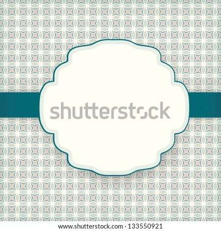 Cute vintage invitation card pattern background stock vector cute vintage invitation card with pattern background and label for wedding anniversary valentines stopboris Gallery