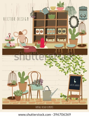 Cute Vintage Vector Elements 3 - stock vector