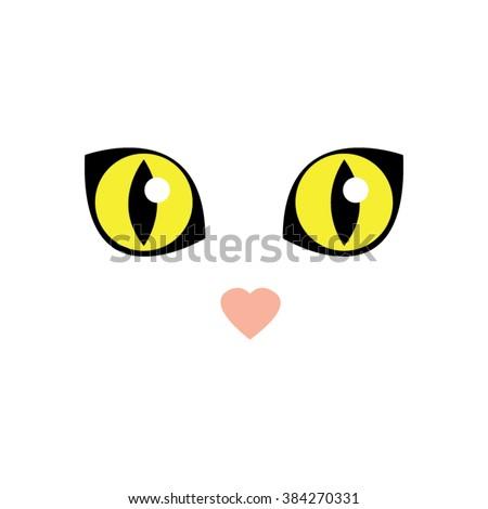 Clipart Cat Face Green Eyes