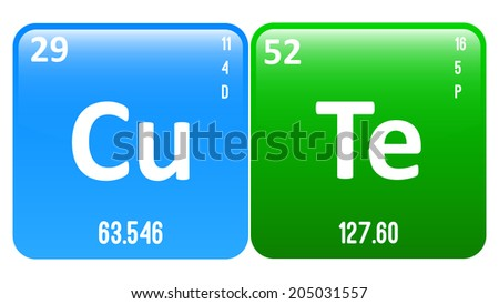 Cute word made periodic table elements stock vector royalty free cute word made of periodic table elements copper and tellurium urtaz Choice Image