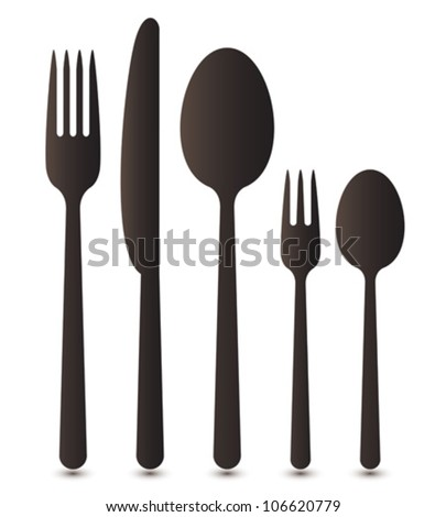 Cutlery - stock vector