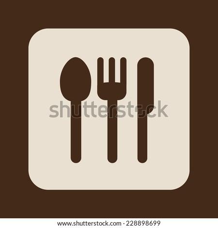 cutlery graphic design , vector illustration - stock vector