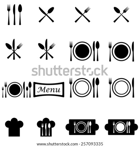 Cutlery Icons - stock vector