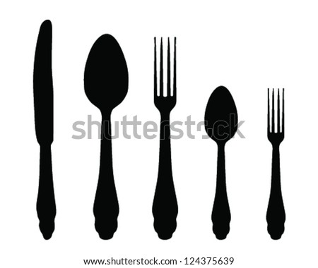 Cutlery icons-vector