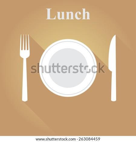 Cutlery in a flat vector illustration - stock vector