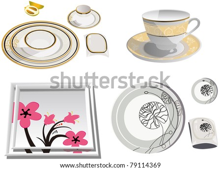 Cutlery on a white background - stock vector