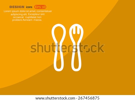 cutlery spoon and fork icon.