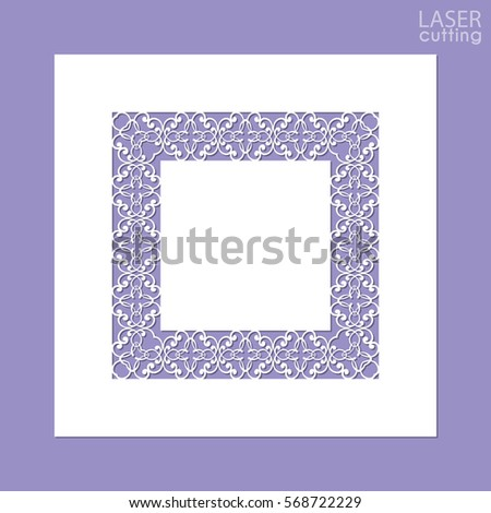 Laser Cut Paper Lace Frame Vector Stock Vector 522223633 ...