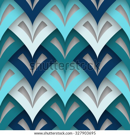Cutout paper texture, vector geometric seamless pattern, eps10 - stock vector