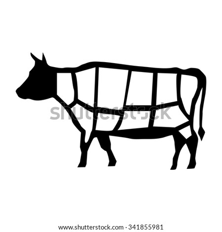 Beef Cut Cuts Vector 190726358 on sheep cuts of meat chart