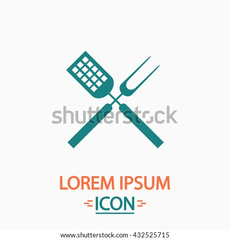 Cutters Flat icon on white background. Simple vector illustration - stock vector
