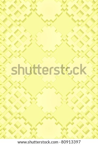 Cutting the tree pattern on a yellow background. - stock vector