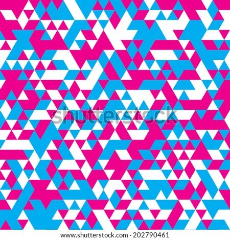Cyan and magenta triangular poster background vector