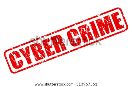 Cyber Crime red stamp text on white - stock vector