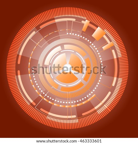 Cyber information gears abstract background, stock vector