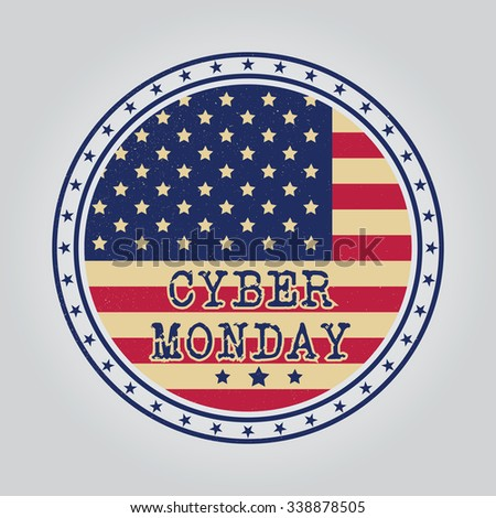 Cyber monday design. Vector illustration.