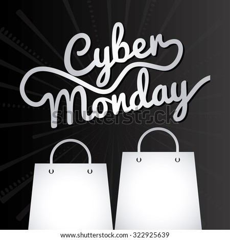 cyber monday design, vector illustration eps10 graphic  - stock vector